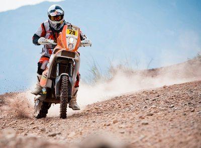 O Brasileiro Felipe Zanol em ação Raly Dakar 2012